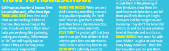 Lessons Alive featured in Bella Magazine